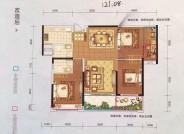 121.08平,3房2厅2卫